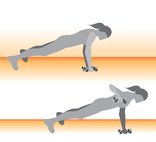 Plank With Row